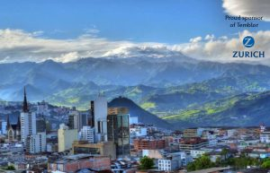 The Colombian city of Manizales, deep in the Andes experienced shaking in today's M=5.2 earthquake.