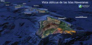 Hawaii adalarında olan depremler turuncu renkle gösterilmiştir.