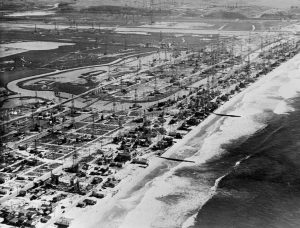 In 1938, the area now known as Marina del Rey was covered with oil derricks and small buildings. Today, much of this history is gone.