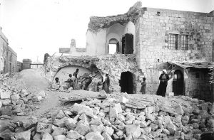This picture from the US Library of Congress shows damage sustained in the 1927 earthquake just north of the Dead Sea.