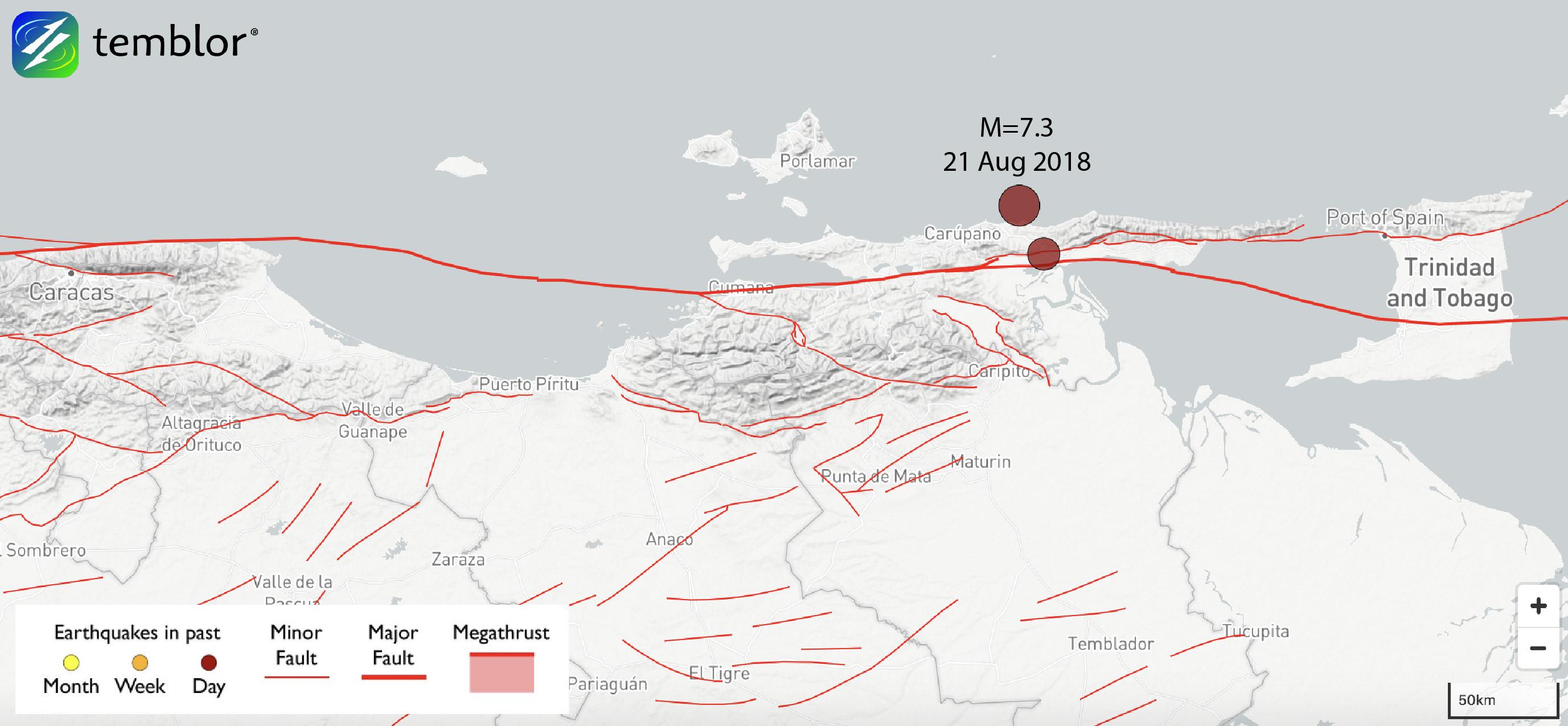 venezuela-earthquake-map