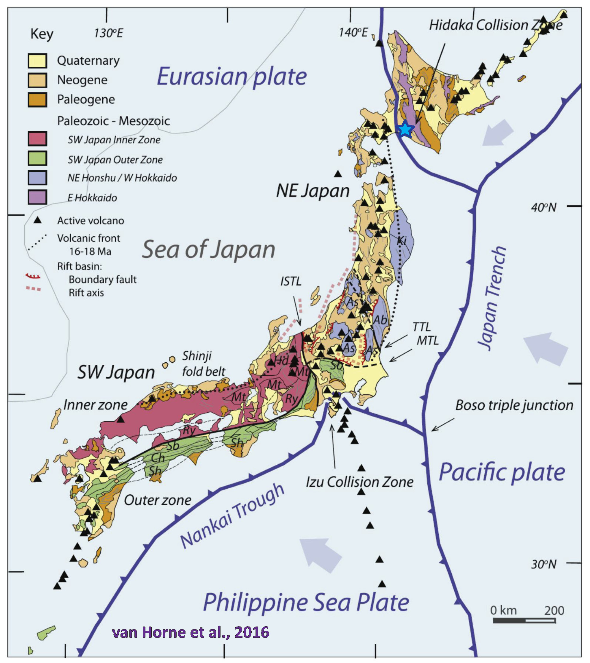 show me a diagram of a volcanic zone collision violent shaking triggers massive landslides in sapporo japan  massive landslides in sapporo japan