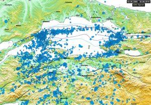 2000-2006 yılları arasında olmuş depremlere bakıldığında bölgenin aktif olduğu görülüyor. Source: Kandilli