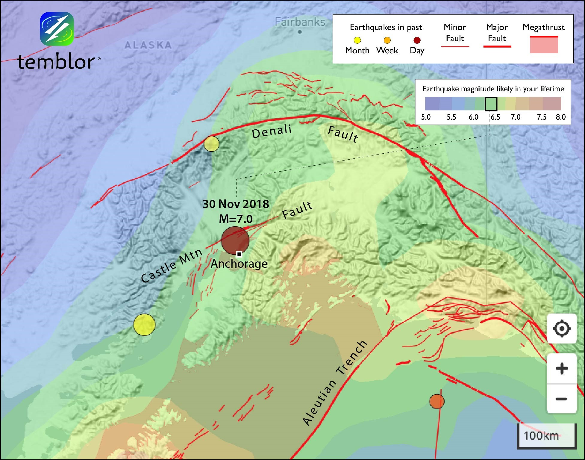 Image of: Exotic M 7 0 Earthquake Strikes Beneath Anchorage Alaska Temblor Net