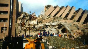 PHIVOLCS photo of damage in the 1990 Luzon earthquake, courtesy of rappler.com.