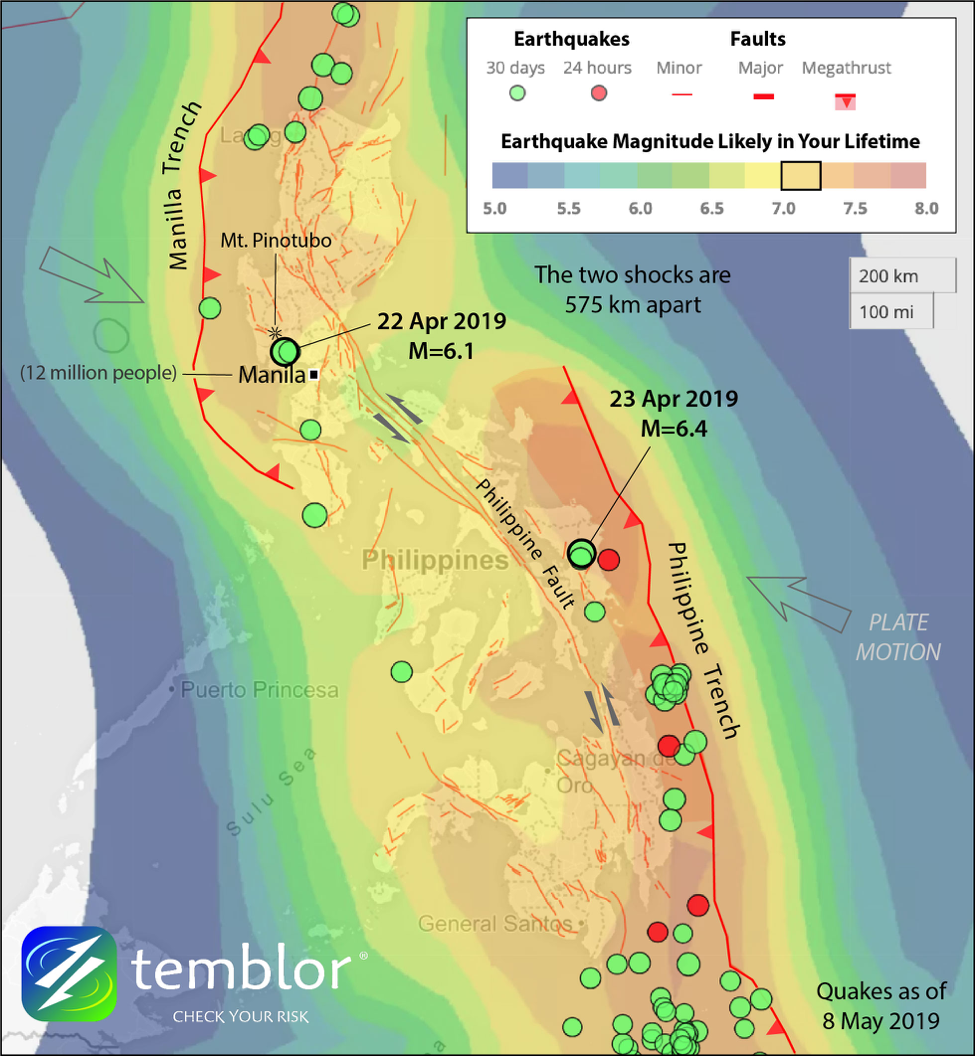 Two Damaging Tremors Highlight The Philippines Coast To Coast Earthquake Problem Temblor Net