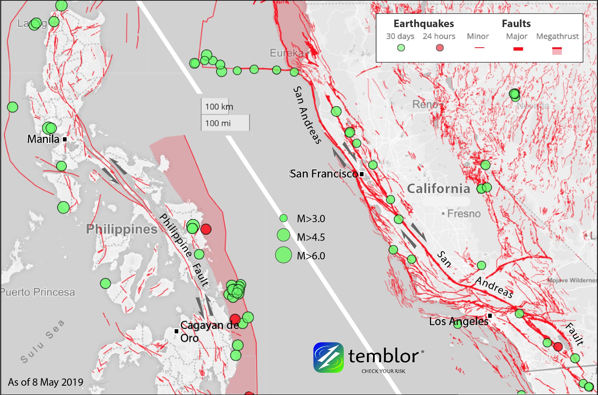 Two damaging tremors highlight the Philippines' coast-to ... on california earthquake index map, california earthquake shake map, california fire history map, california earthquake probability map, california earthquake hazard map, california earthquake frequency map, california wildfire history map, 2010 baja california earthquake map, kern county earthquake fault map, west coast earthquake map, california earthquake zones map, east coast hurricane history map, california earthquake damage map, monterey california earthquake map, california earthquake prediction map, california fault map, california earthquakes today map, loma prieta earthquake map,