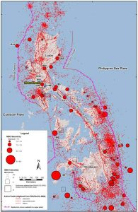 Major faults and historical earthquakes in the Philippines. Figure from Wong et al. [2014].