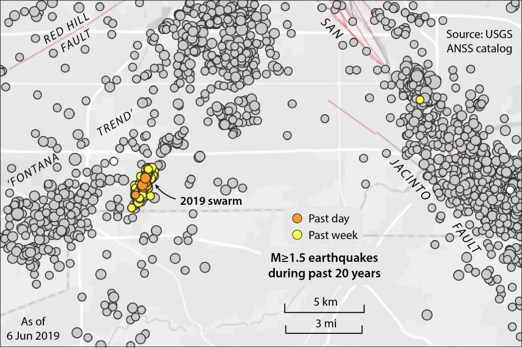 The seismicity trend has long been recognized but little explained.