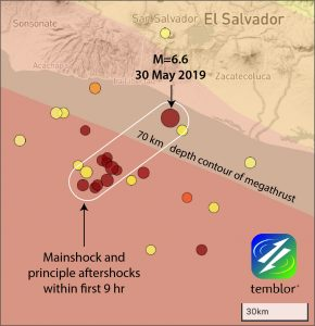 Mainshock and Aftershocks of Thursday's Event