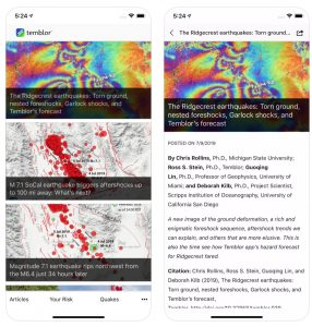 Our news articles provide rapid, scientifically sound but easily understandable insights about earthquakes as they occur around the world. We also write about discoveries and breakthroughs in the Earth Sciences. Temblor is a credited Google News source, and is frequently cited in major news outlets.