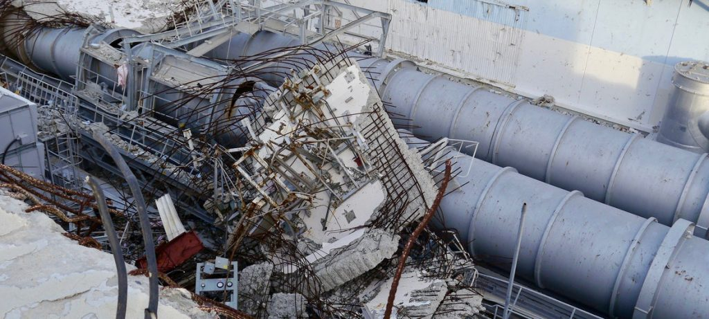Rubble from the Fukushima Daiichi Nuclear Power Plant caused by the 2011 earthquake and tsunami. Photo by Gill Tudor for IAEA