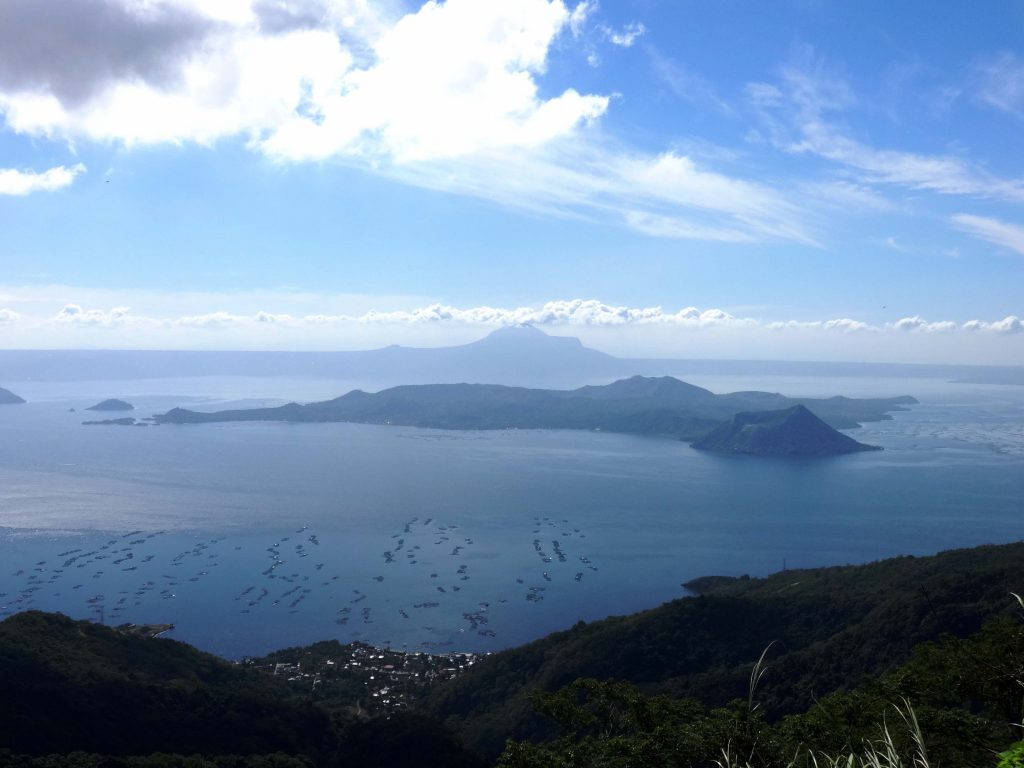 View of Volcano Island in Lake Taal, on the Philippine Island of Luzon. Photo was taken from Tagaytay, looking south toward the lake. Credit: Patrick Roque