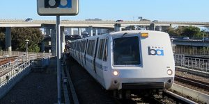 In the San Francisco Bay Area, the Bay Area Rapid Transport System, or BART, will automatically brake its trains when an earthquake is detected, according to the Incorporated Research Institutions for Seismology (IRIS). Photo Credit: Pi.1415926535 [CC BY-SA 3.0]