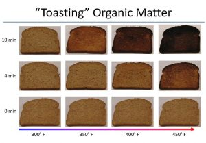 Like the organic biomarkers used in this study, bread will experience different levels of alteration and degradation depending on the intensity and duration of heat exposure. Credit: Pratigya Polissar.