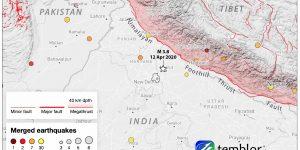 Sunday's magnitude-3.8 quake was felt throughout the capital region. Credit: Temblor