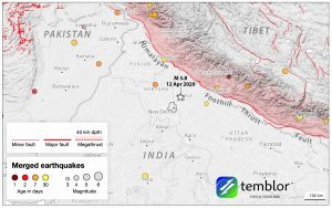 Sunday's magnitude-3.8 quake was felt throughout the capital region. Credit: Temblor