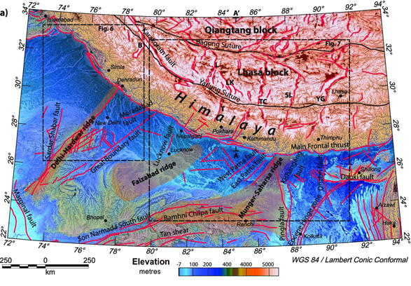 The energy from the earthquake likely transmitted efficiently and fast through the Delhi-Hardwar Ridge, which is why the earthquake vibration was felt by people living in the National Capital Region. Credit: Godin, L. and Harris, L.B., 2014, Fig. 2a, Geophysical Journal International