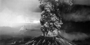 Mount St. Helens erupting on May 18, 1980. Credit: USGS