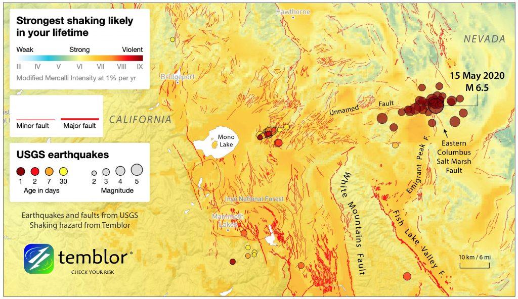 14 May M 6.5 Nevada quake