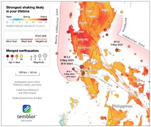 Three widely felt earthquakes shook the Philippines today, but it's unclear if they triggered each other.