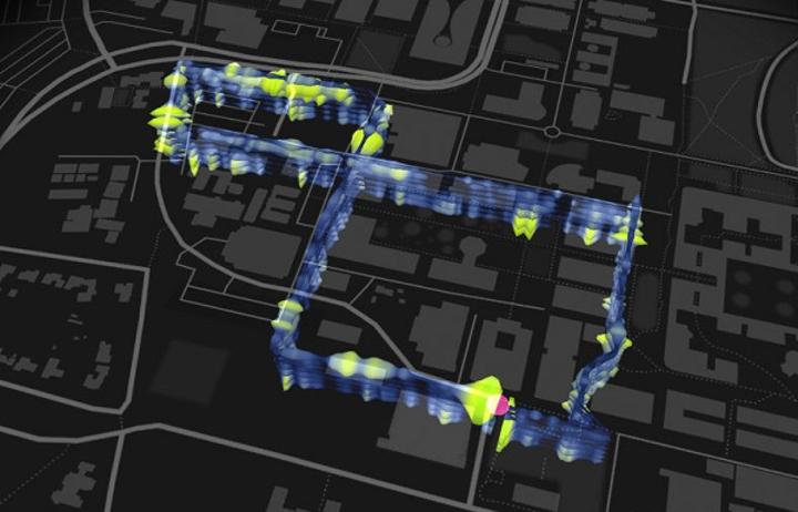 The fiber-optic loop beneath Stanford University. Image Credit: Stamen Design and the Victoria & Albert Museum (CC BY 4.0)