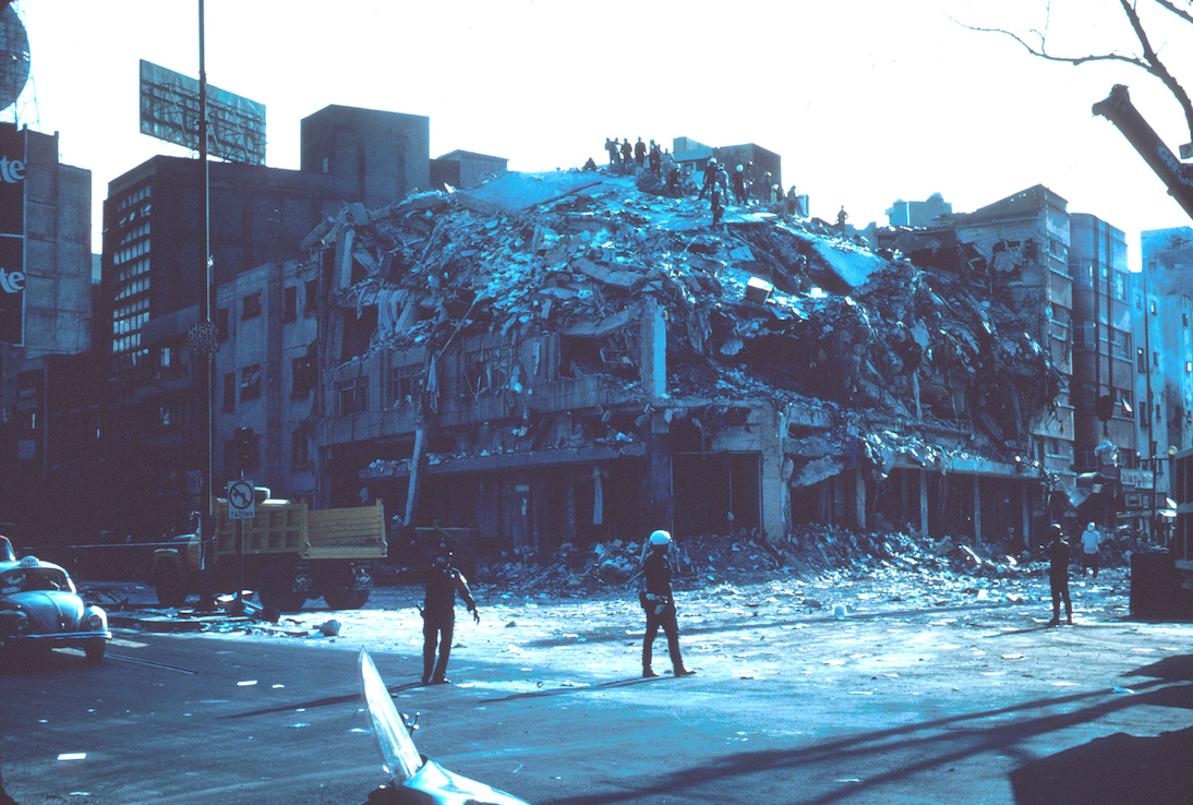 The aftermath of the 1985 Mexico City earthquake. Image credit: USGS