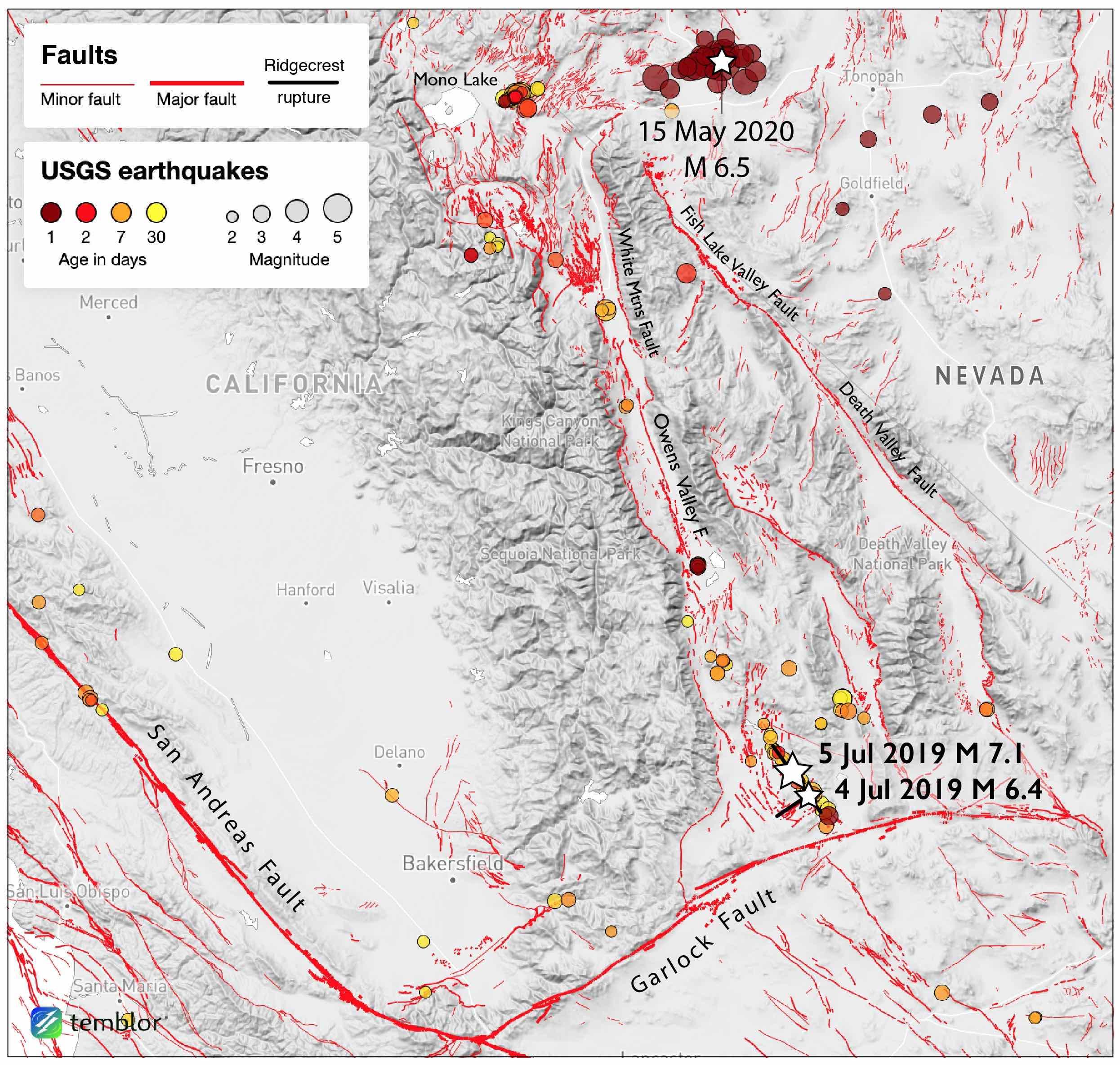 Magnitude 6 5 Earthquake Rattles Nevada And California Temblor Net