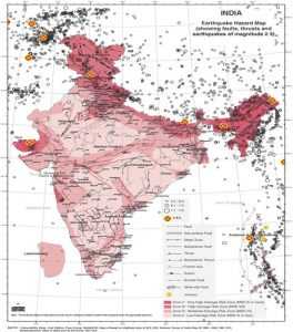 India's Seismic Zones. Credit: National Disaster Management Authority