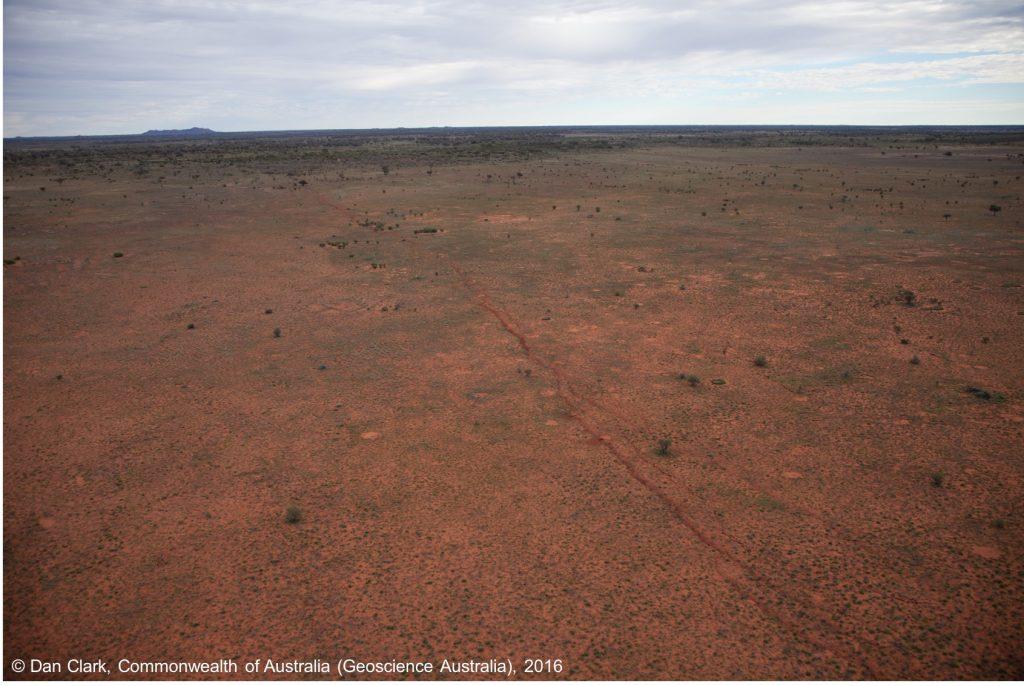 The magnitude-6.0 quake produced a remarkably linear surface rupture. Credit: Dan Clark, Commonwealth of Australia (Geoscience Australia)