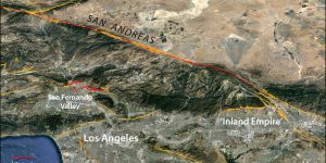 The greater Los Angeles area lies near the San Andreas Fault.