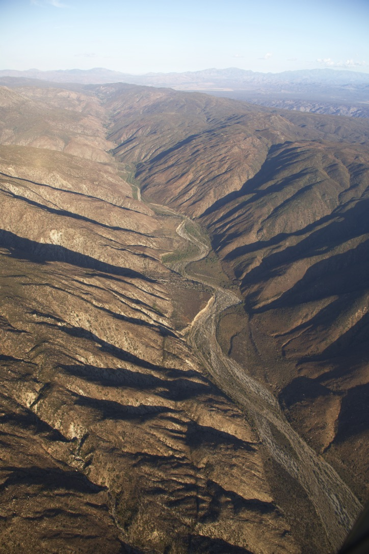 The Agua Blanca fault forms a valley in northern Baja California. Credit: John M. Fletcher