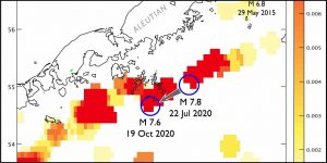 Temblor's 12 month earthquake forecast Aleutians