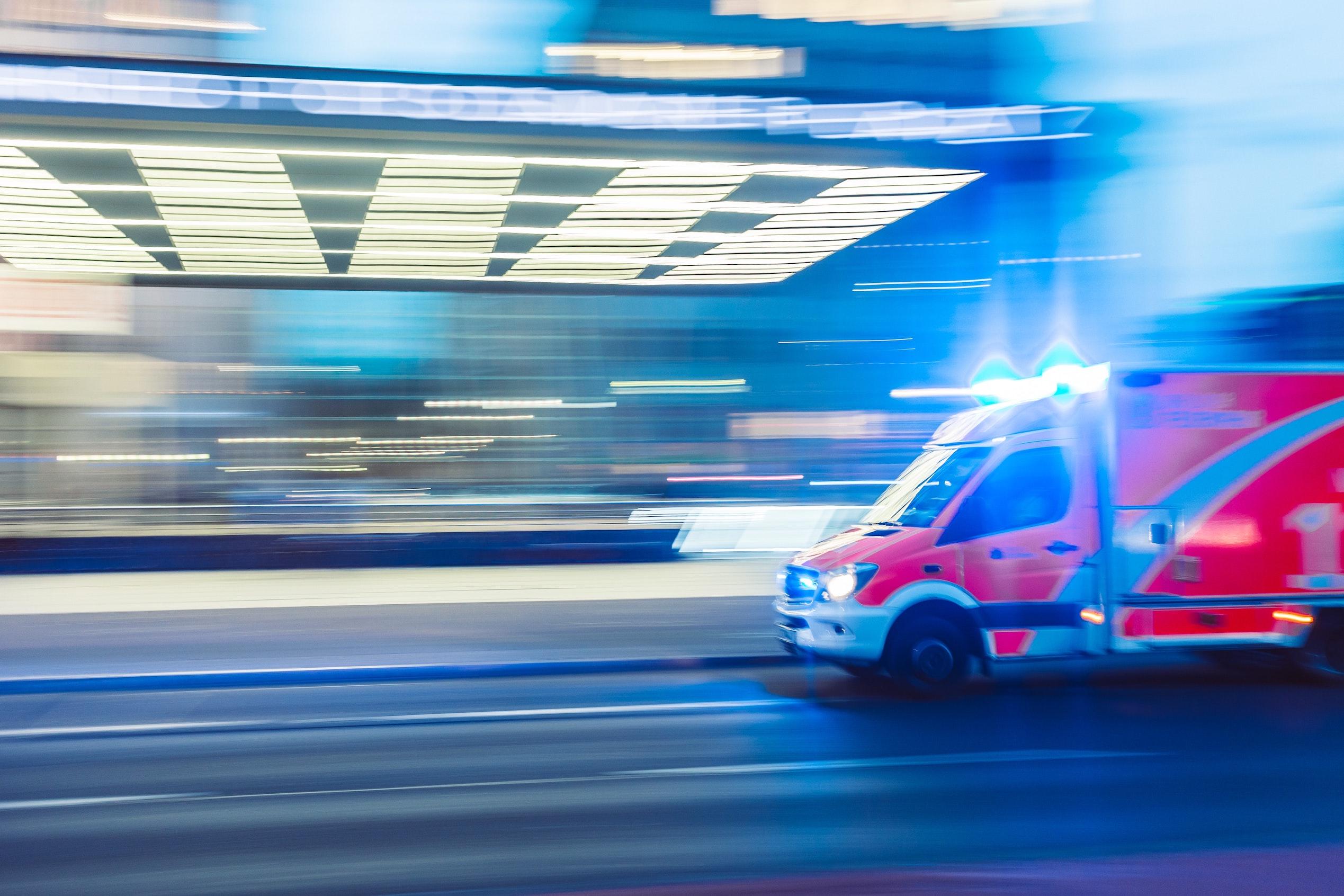 Photo of moving ambulance