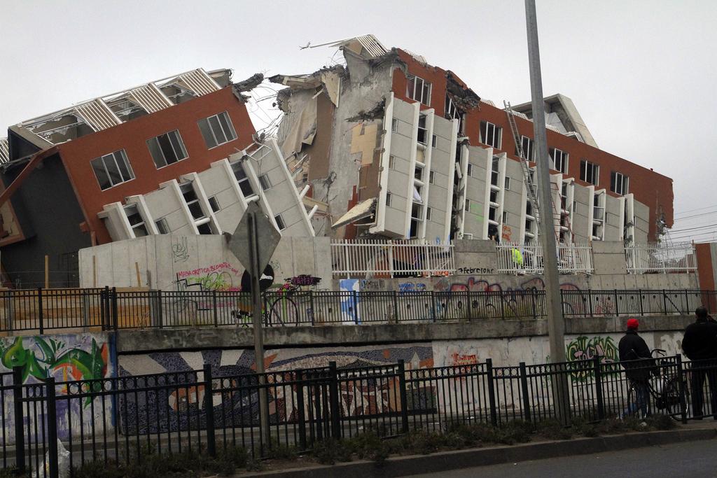 Photo of damaged building