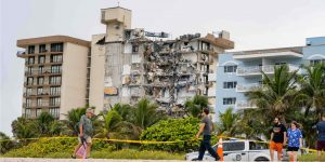 On June 24, the Champlain Towers South building collapsed. The cause is not known yet, but engineers have noticed similarities between how the building fell and how other buildings have fallen in progressive collapses. Credit: Felix Mizioznikov, Shutterstock.com