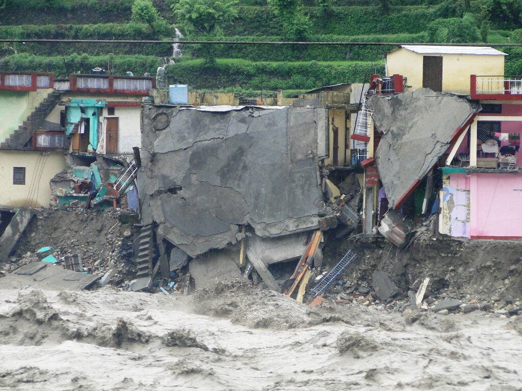 Floods in Uttarakhand, India in 2013 wrecked havoc, washing away buildings and roads. Credit: Jan Vikas Sansthan (Oxfam India partner) CC BY-NC-ND 2.0