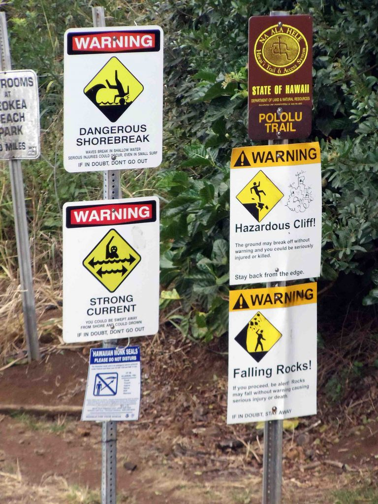 On a good day, the Pololū Trail is known to be treacherous. After the recent earthquake, it could be even more dangerous, so hikers beware. Credit: Megan Sever