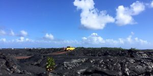 View over the Kīlauea lava field towards the ocean in the southeast of the Big Island of Hawaiʻi. Credit: L. Burkhard